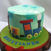 Torta Vláčiková s farbenou ganache