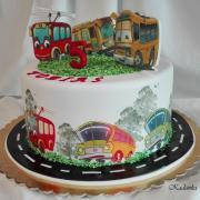 Torta Pre milovníka autobusov a trolejbusov