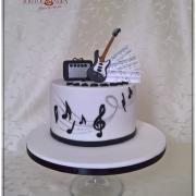 Torta Hudobná s elektrickou gitarou