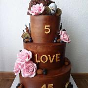 Torta čoko torta, narodeniny ocko so synčekom a svadba rodičov