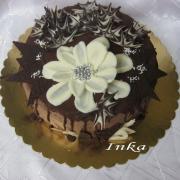 Torta s ružou z čokolády