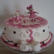 Torta Kitty a minnie na želanie