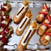 Torta eclairs s karamelovým a kokosovým krémom