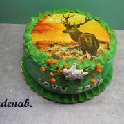 Torta myslivecký s jelenem