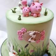 Torta Zvieratká pre dievčatko