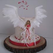 Torta Krstinová s anjelom