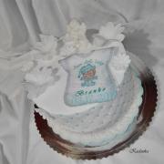 Torta Na krstiny s anjelikom ...