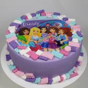 Torta Lego Friends pre sestričky Mišku a Ninku