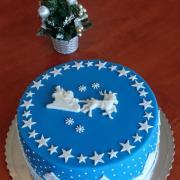 Torta Zimná vianočná krajina