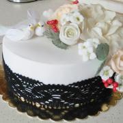 Torta Svadobná s čipkou