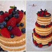 Torta Nahá s čerstvým ovocím