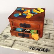 Torta Šuflíček s farebnými ponožkami pre milovníka Happy socks :)