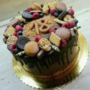 Torta s keksíkmi a ovocím