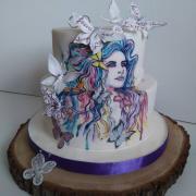 Torta Svadobná maľovaná