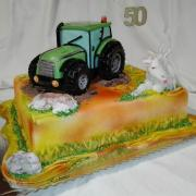 Torta Pre milovníka traktora, kozička, zajačiky a psík...