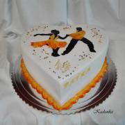 Torta Srdiečko pre tanečnicu Latinskoamerických tancov...
