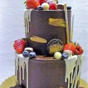 Torta Poschodová drip torta