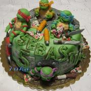 Torta ninja korytnačky