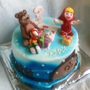 Torta Máša a medveď v zime...