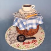 Torta Oddychová tortička s kávičkou a krížovkami :)