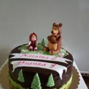 Torta Maša a medveď
