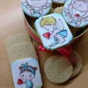 Torta Škoricové sušienky s anjelikmi.. Ručne maľované
