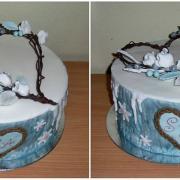 Torta Svadobná s pleteným srdiečkom