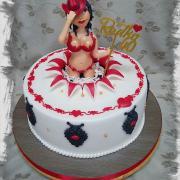 Torta s modelkou