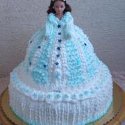 Torta Barbinka pre slečnu bielo modrá na želanie