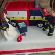 Torta svadobná pre hasičov