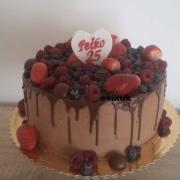 Torta narodeninová  s čoko a ovocím