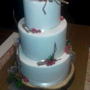 Torta zimná svadobná