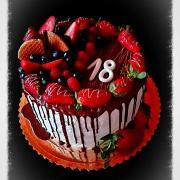 Torta Narodeninová na 18