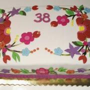 Torta Torta s výšivkou