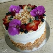 Torta s orchideou