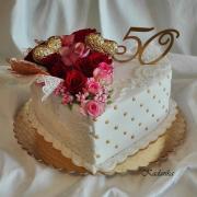 Torta Zlatá svadba...