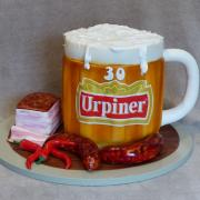 Torta pivo,slanina,klobáska