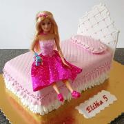 Torta barbie postel