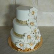 Torta S veľkými kvetmi