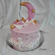 Torta Na krstiny s mesiačikom...