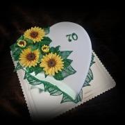 Torta srdce so slnečnicami