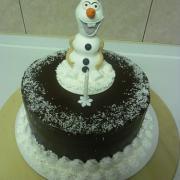 Torta jednoduchá s Olafom