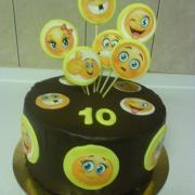 Torta smajliková torta