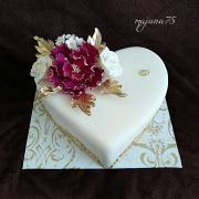 Torta srdiečko svadobne