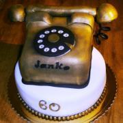 Torta Retro telefón