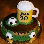 Torta Pivo + futbal