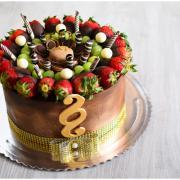 Torta Čoko torta s ovocím pre právnika na 50 tku
