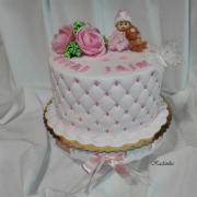Torta Na krstiny v bledulinko ružovom...
