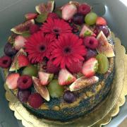 Torta Narodeninová bez čísiel, s makom
