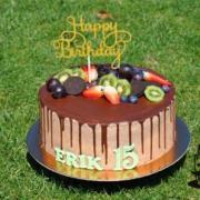 Torta Čokoládová s ovocím